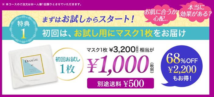 お試し1000円